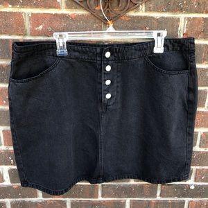 NWT Forever 21 Black Denim Skirt